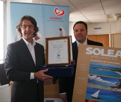 Pascal Maigniez, Directeur France-Benelux du Dubai DTCM et Guy Zekri, directeur de Soléa Vacances