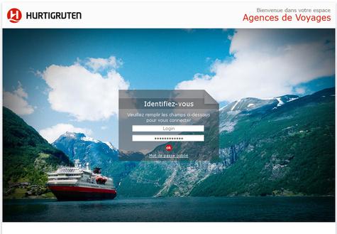 La Home Page du site dédié aux agences