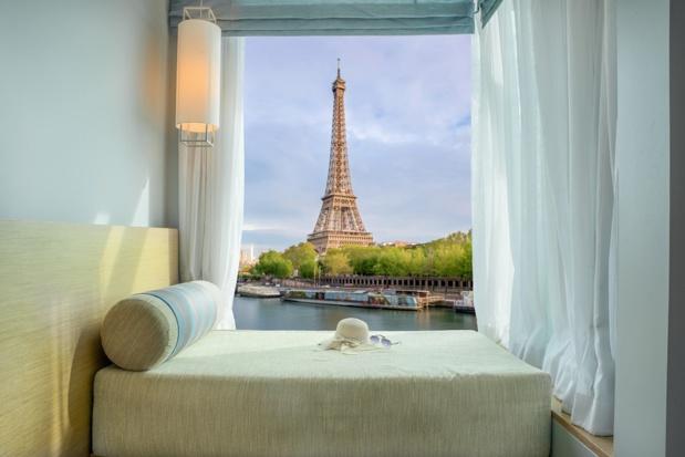 Les hôtels parisiens affichent de très bons résultats de fréquentation étrangère au premier trimestre 2017 - Photo : ake1150 - Fotolia.com