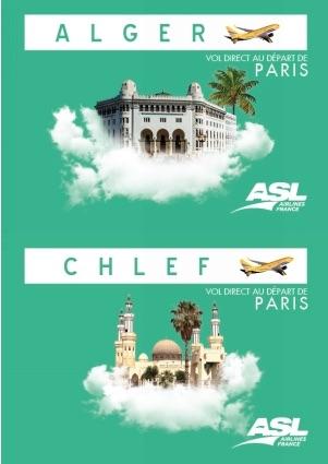 Algérie : ASL Airlines France lance Paris-Alger et Paris-Chlef