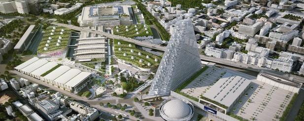 Projet de modernisation du parc des expositions de Paris-Porte de Versailles - DR : Viparis
