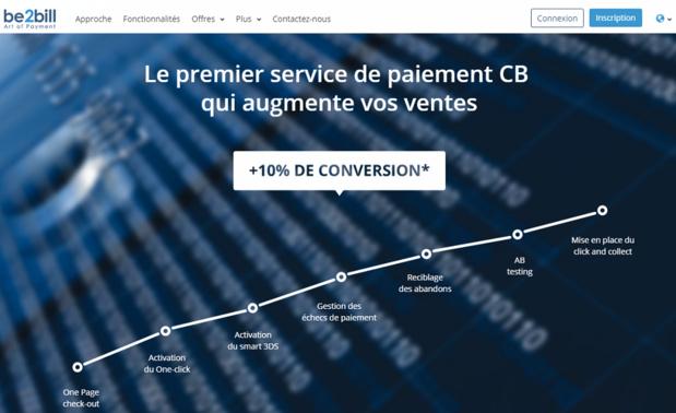 Capture d'écran de Be2bill.com