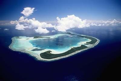 L'atoll de Tetiaroa à 40 kilomètres de Tahiti abrite de nombreuses espèces d'oiseaux rares et de tortues