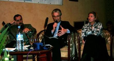 Jean-Pierre Casnat, Air France entouré de Nadine Pawlak et Jacques Mense