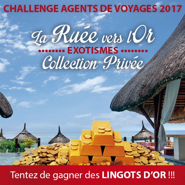 Plus de 800 agents de voyages ont participé au challenge, qui se terminait le 31 mars 2017. Les 16 meilleurs décolleront ce mardi 16 mai pour la finale dans l'une des destinations de la production Collection Privée d'Exotismes - Photo Exotismes