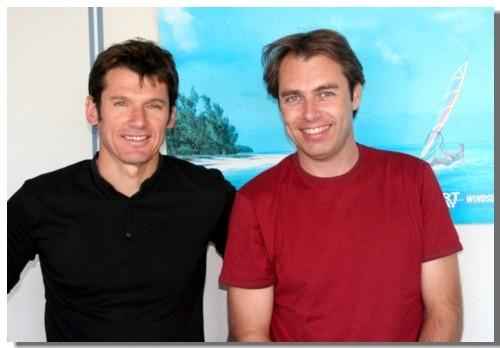 Xavier Descamps (dte) et Tanguy Dadon, deux vieux copains, sont à l'origine d'une des très belle réussite en matière de tourisme sportif et d'aventure