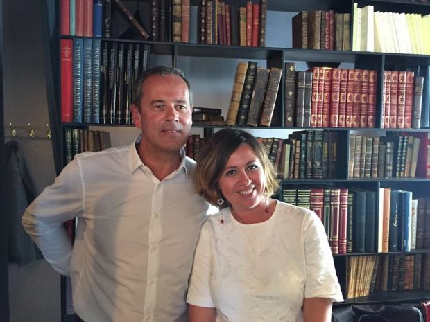 Patrice Caradec et Simona Nocifora, la directrice communication du groupe Alpitour, à Paris, ce 16 mai 2017 - DR : P.G.