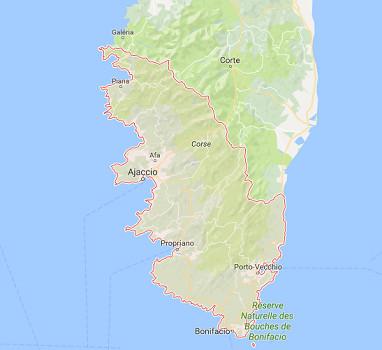 Le trafic des aéroports de la Corse du Sud progresse en avril 2017 - DR : Google Maps