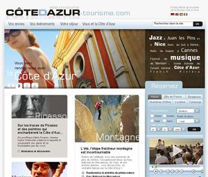 La page d'accueil du site tel qu'il se présentera le 23 juin lors du lancement de la marque Côte d'azur