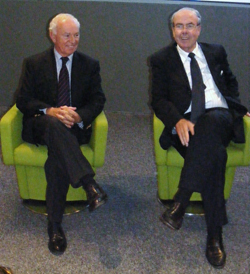 Dominique Charpentier, directeur du CRT Riviera Côte d'Azur, en compagnie d'Alain Gumiel, nouveau président et maire de Vallauris Golfe Juan