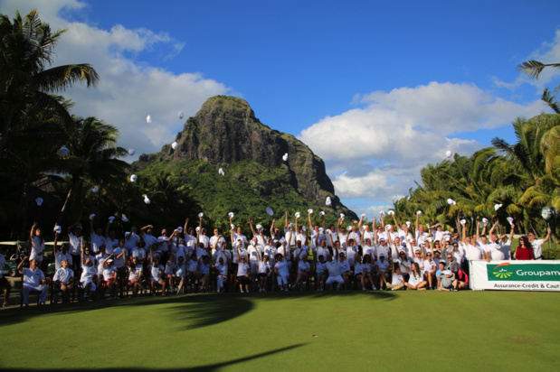 Les participants sur le superbe parcours du Paradis... des golfeurs ! /photo DR
