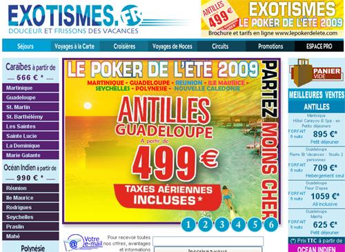 """Exotismes partant pour jouer les prolongations de ''partirauxcaraibes.fr"""""""