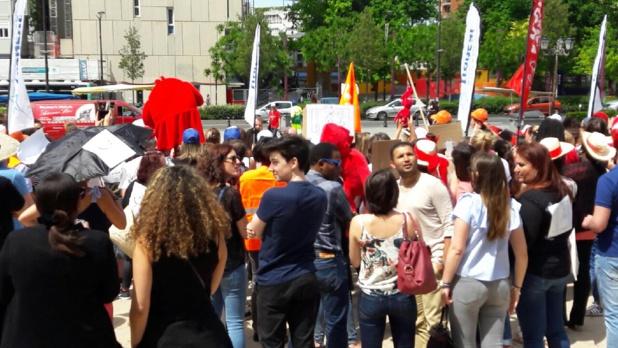 200 des 400 employés de Transat France ont répondu présents - Photo : DR