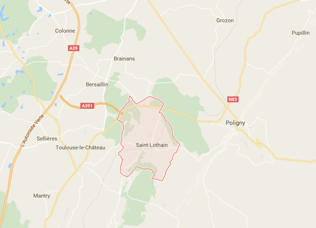 L'accident s'est produit sur la commune de Saint Lothain, dans le Jura - DR : Google Maps