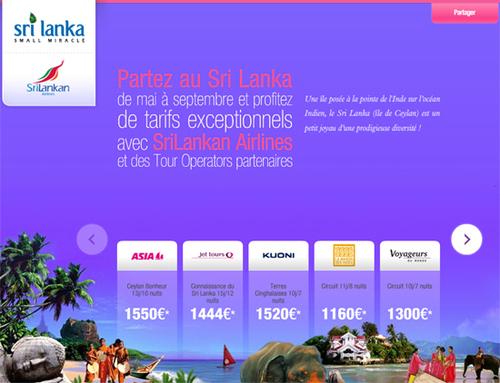 Le Sri Lanka lance une campagne en ligne