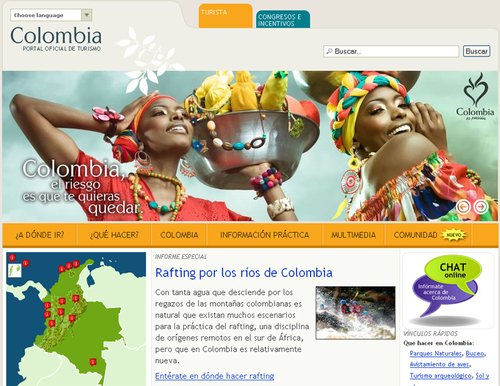 Le site colombia.travel