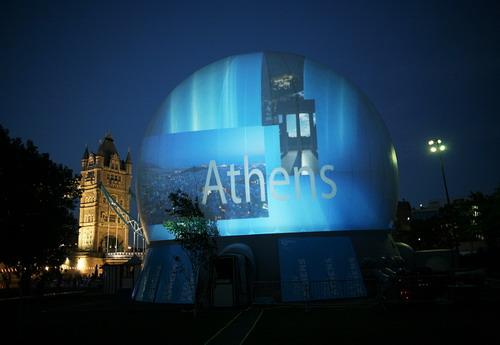 La Défense à Paris : Athènes fait sa promotion