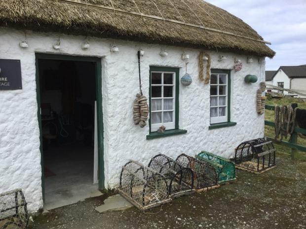 Le cottage du pêcheur à Glencolmcille village - DR : J.-P.C.