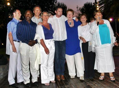 La dream team du CEDIV, présentée par sa présidente Adriana Minchella, lors de la soirée Amadeus
