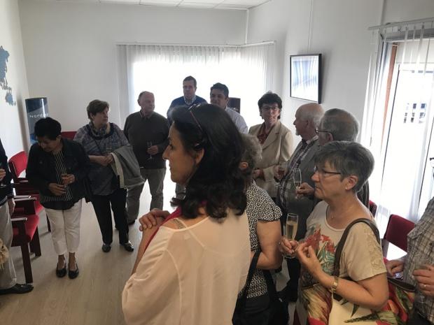 Salaün Holidays a invité une cinquantaine de personnes pour l'inauguration des nouveaux locaux de La Boutique des Groupes en Bretagne - Photo : Salaün Holidays