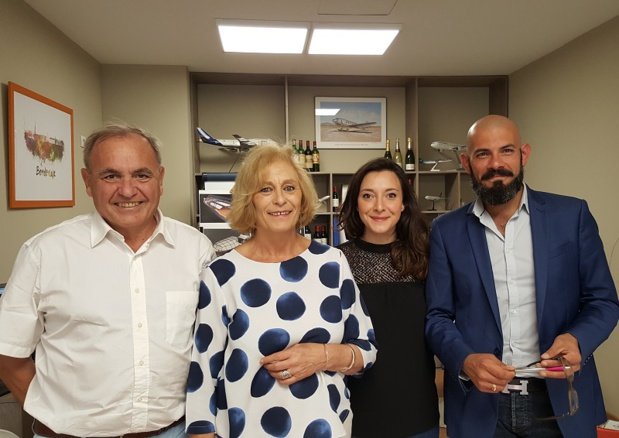 L'équipe 3B Voyages (de g. à dr.) : Pierre Creuzé, Sophie Vaugelade, Karol Ratiney et Léa Tortosa - DR : A.B.
