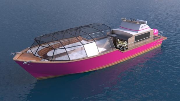 3B proposera un produit clé en main avec service traiteur à bord d'un navire à fond plat - DR : 3B Bordeaux Be Boat