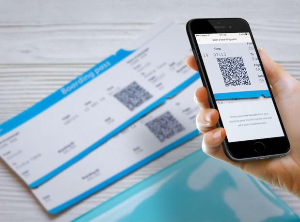 Il suffit de numériser votre carte d'embarquement et l'application déterminera si vous êtes admissible à une réclamation (c) AirHelp