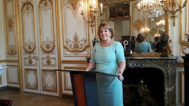 S.E. Madame Geraldine Byrne Nason, Ambassadeur d'Irlande en France lors du work shop dédié au tourisme de luxe. MS.