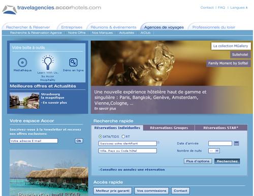 Le site pour les agences : travelagencies.accorhotels.com