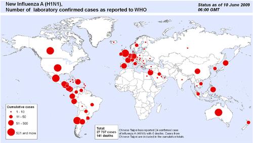 Epidemie Grippe Carte