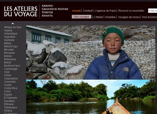 Le nouveau site web du voyagiste en ligne depuis le 3 juin 2009 (cliquer)