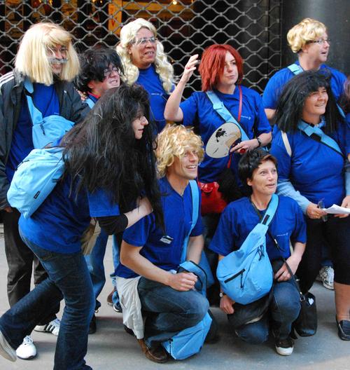 Les Bleus devant l'Olympia