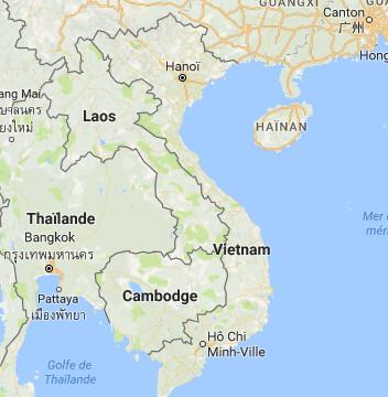 Les Français n'ont pas besoin de visa pour entrer au Vietnam jusqu'au 30 juin 2018 - DR : Google Maps