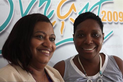 Regina La Bega, directrice de l'office de tourisme de Saint Maarten (gauche) et Ida Zin-Ka-Ieu, Pdte de l'office du tourisme de la collectivité de Saint-Martin (droite).