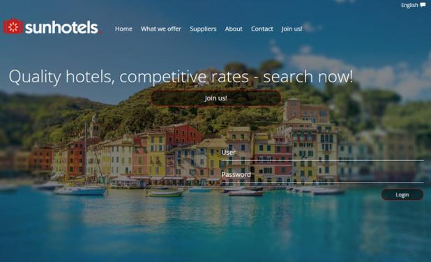 Le site Sunhotels - DR