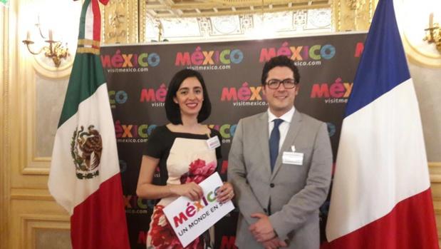 Jesus Catalan Meneses  directeur de l'Office de Tourisme du Mexique en France et  Ana Sofia Diaz Duran, directrice adjointe, à l'initiative des workshops organisés à Lyon et à Paris pour les professionnels du tourisme.MS.