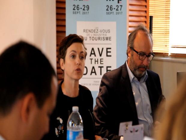 Sophie Jovillard et Frédéric Lorin, présidant le jury de la 5e Travel Agents Cup, lundi 12 juin à Paris © DR JG Tourmag