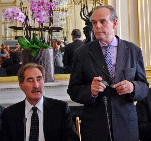 La première « sortie officielle » de Frédéric Mitterrand, nouveau ministre de la Culture aux côtés de son homologue turc Ertugrul Gunay