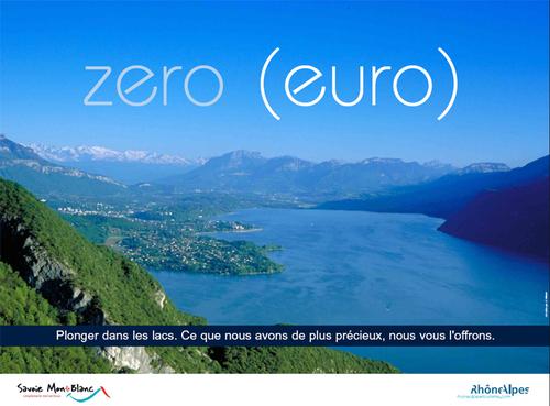 Rhône Alpes Tourisme : une campagne de promo « Zéro Euro »