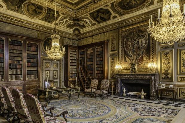 La bibliothèque reconstituée. C Delisle.
