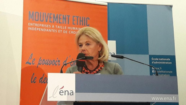Sophie de Menthon, présidente de l'ETHIC à l'initiative de ce colloque sur le tourisme en France. MS.