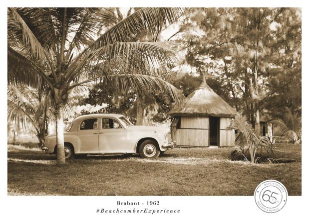 1962 : ouverture du Morne Plage aux « rondavelles », les traditionnelles petites cases circulaires au toit pointu. Il sera remplacé par le Morne Brabant -DR : Beachcomber Experience