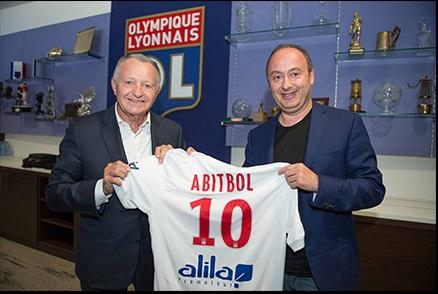 Jean-Michel Aulas (àgauche), président de l'Olympique Lyonnais, et Laurent Abitbol, président du groupe Marietton Développement - Photo : Marietton Développement
