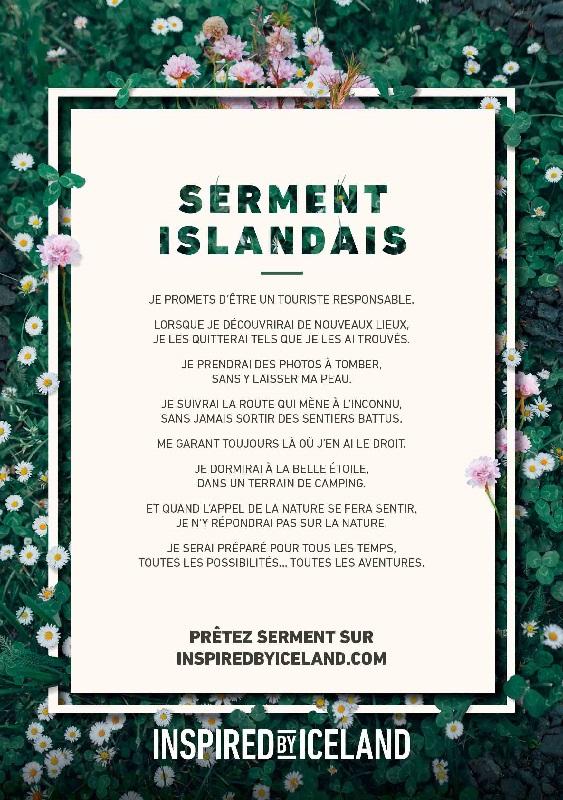 Le serment Islandais à l'attention des visiteurs - DR