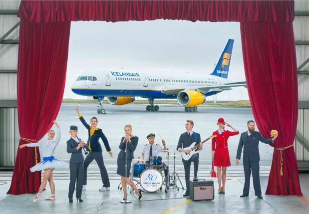 Les salariés d'Icelandair proposent des spectacles qu'ils ont eux-mêmes montés - Photo : Icelandair
