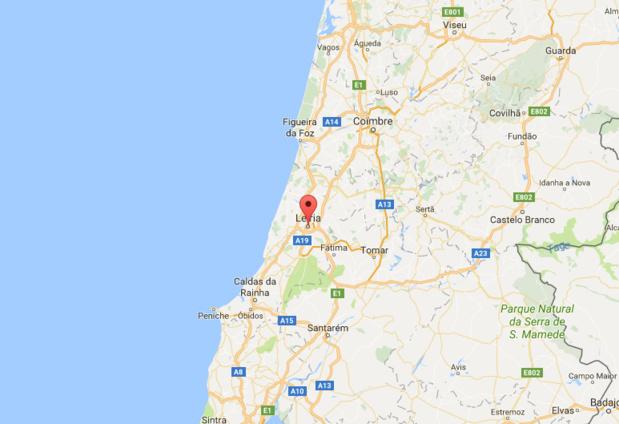 Les incendies touchent la région de Lairia, dans le centre du Portugal - DR : Google Maps