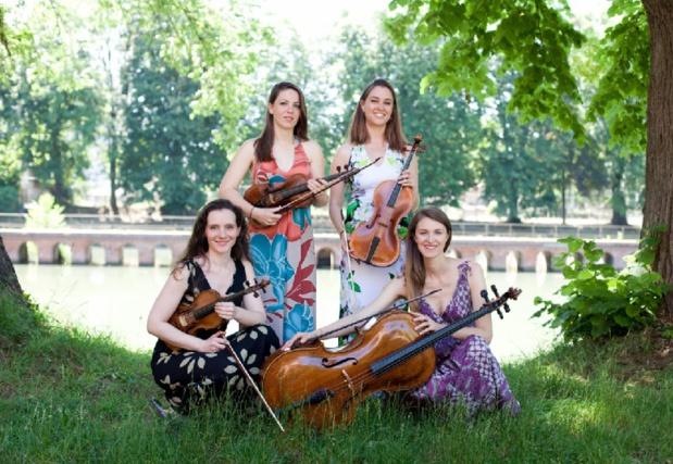 Un quatuor de jeunes musiciennes du Conservatoire de Toulouse se produira en juillet dans 5 campings labellisés Camping Qualité - DR