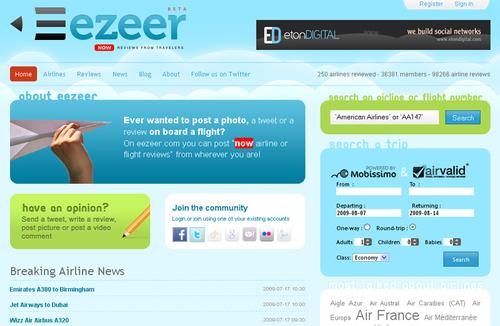 Eezeer.com : Air Valid lance un réseau social sur l'aérien