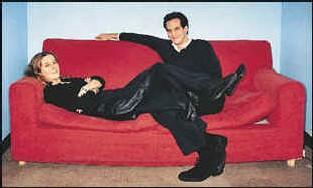 Brent Hoberman et Martha Lane Fox, créateurs de Lastminute, dans un fauteuil...