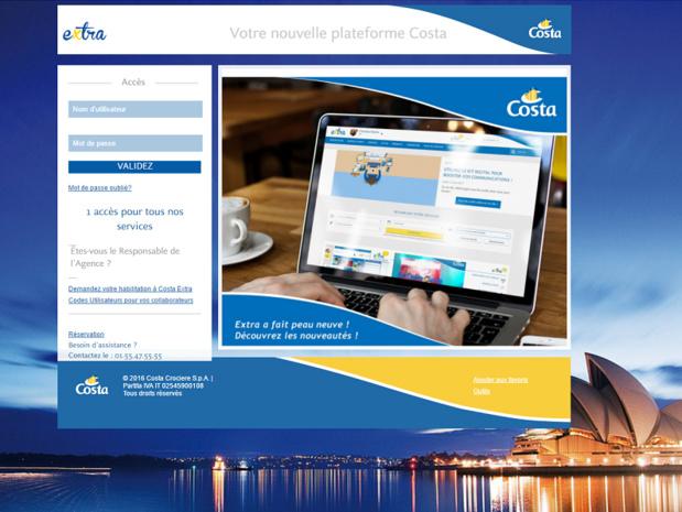 La V2 de la plateforme Costa Extra  V2 est bien fait la part belle à l'accessibilité (c) Capture Costa
